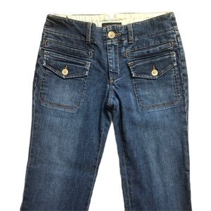 Banana Republic Stretch Flare Blue Jeans Pants